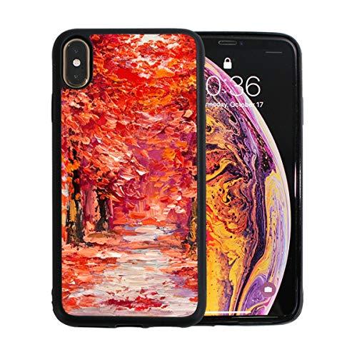 WYYWCY Perfect Artwork Ölgemälde Apple Telefon Xs Max Case Screen Protector TPU Hard Cover mit dünnem stoßfestem Stoßfänger Schutzhülle für Apple Phone Xs Max 6,5 Zoll