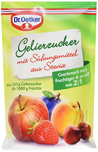 Dr. Oetker Gelierzucker mit Süßungsmittel aus Stevia, 10er Pack (10 x 350 g)