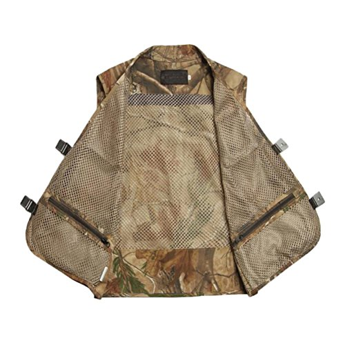 Zhhlaixing Summer Mode Outdoor Hollow Mesh Thin Out Multi-pocket Vest Green