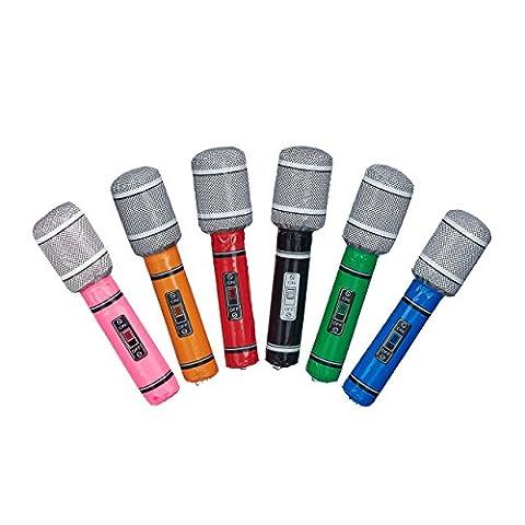 Relaxdays Micro gonflable 24 cm de longueur anniversaire enfant fête karaoké déguisement costume, plusieurs couleurs