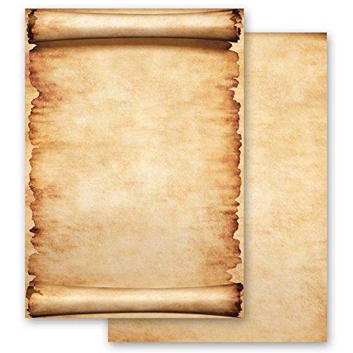 Carta da lettera decorati pergamena 20 fogli din a4