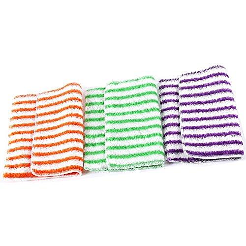10k Faser (Nothing But Quality Korean 100% Bambus Faser Gericht Reinigung Handtücher (10Pack) 18*23cm Gestreift)