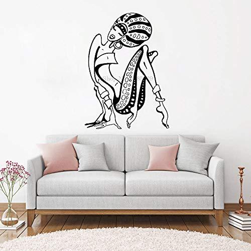 yaoxingfu Afrikanische Frauen Wandtattoo Fensteraufkleber Schönheit Afro Schwarz Frauen Handgemachte Tapeten Kunst Wohnkultur L schwarz S 42 cm x 58 cm Swift Chopper