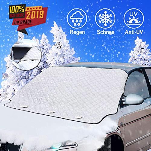 [2020 Neueste]Frontscheibenabdeckung, Frontscheibe Abdeckung Winterschutz Faltbar, Scheibenabdeckung, mit Magnet, Windschutzscheibe gegen Schnee, EIS, Frost, Staub, Sonne solar ultraviolett