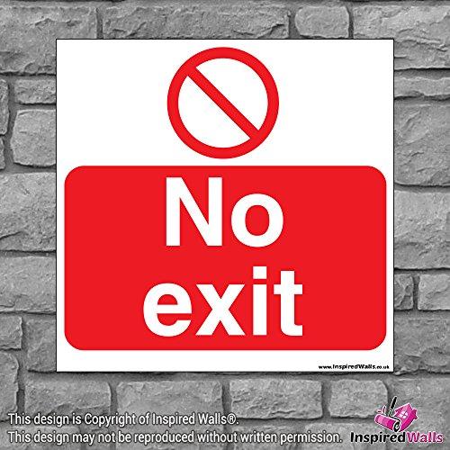 2x No Exit 2?Gesundheit & Sicherheit Warnung Verbot Schild Aufkleber -