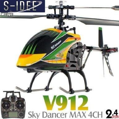 S-idee 01141 / 4.5 channels, 2.4 GHz radio controlled helicopters V912 RC helicopter heli / transport with LCD screen, 2,4 GHz gyro technology & nbsp; for indoor and outdoor product with built-in gyroscope nine 2,4 GHz steering ready to fly