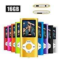 MYMAHDI MP3/MP4 Music Player with 16 GB Micro SD Card(Expandable Up to 128GB),Supporting Photo Viewer,Voice Recorder,FM Radio,E-book and High Quality Earphone Provided Color Gold