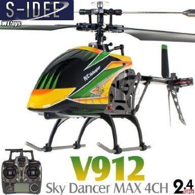 *s-idee® 01141 | V912 4.5 Kanal 2,4 Ghz Heli Hubschrauber RC ferngesteuerter Hubschrauber/Helikopter/Heli mit LCD Display und GYROSCOPE-TECHNIK + 2,4Ghz TECHNOLOGIE!!! für INNEN und AUSSEN brandneu mit eingebautem GYRO und 2.4 GHz Steuerung! FLUGFERTIG!*