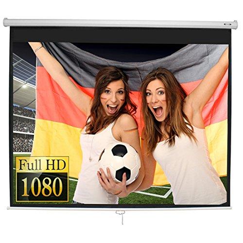 Beamer Leinwand Heimkino 178 x 178 cm (Diagonale ca. 99 Zoll / 252 cm) HDTV/3D tauglich