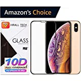 IPhone Xs Max Tempered Glass,iPhone Xs Max Screenguard [10D Edge To Edge ] Tempered Glass For IPhone Xs Max,Screenguard For IPhone Xs Max By [VIRALLTECH]