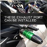 Z900 Protection de pot d'échappement en aluminium CNC Anti-Chute Protecteur Curseur de Cadre vert pour moto Kawasaki Z 900 2017 2018 2019