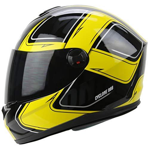 Off Road Full Face Motorradhelm für Erwachsene Winproof Antifog Flip Up Motorradhelme mit Visier Motocross Racing ()