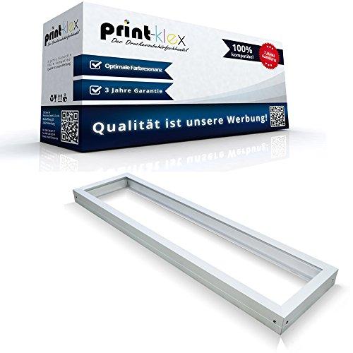 LED Panel Rahmen 120 x 30 cm Aufputzgehäuse Einbaurahmen Deckenbefestigung Weiß – Office Print Serie