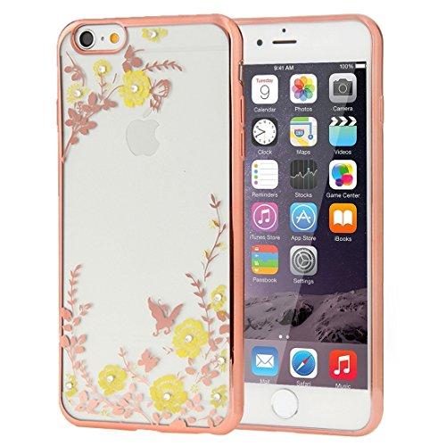 Für iPhone 6 / 6s, Blumen Muster Galvanisieren Soft TPU Schutzhülle Fall DEXING ( SKU : IP6G1010A ) IP6G1010E