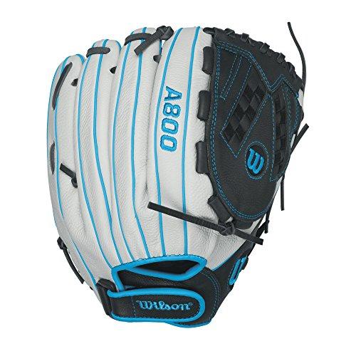 Wilson - Gant de Baseball/Softball Wilson A800 Aura Gants - Droitier, Taille Gant - 12.5