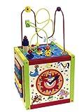 Eichhorn 100003685 -  Holz-Spielcenter, inklusive Motorikschleife, Uhr,  Xylophon, Motorikspiel und Tafel, 30x30x58 cm