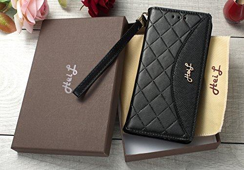 Heil S8Classic (Schnell Uns Liefern Garantie Erfüllt von Amazon) Neuen Eleganten Luxus PU Leder Wallet Style Flip Cover Fall für Samsung Galaxy S8S 8Nur, Black Classic