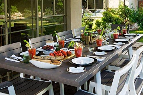 Set da giardino mod. Harmony con tavolo allungabile in resina della keter con tavolo 6 poltrone