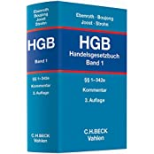 Handelsgesetzbuch: HGB: Handelsgesetzbuch  Bd. 1: §§ 1-342e