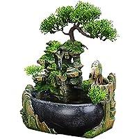 Jeffergarden Waterfall Desktop Fountain With Color Changing Led Lighting Zen Meditation Waterfall