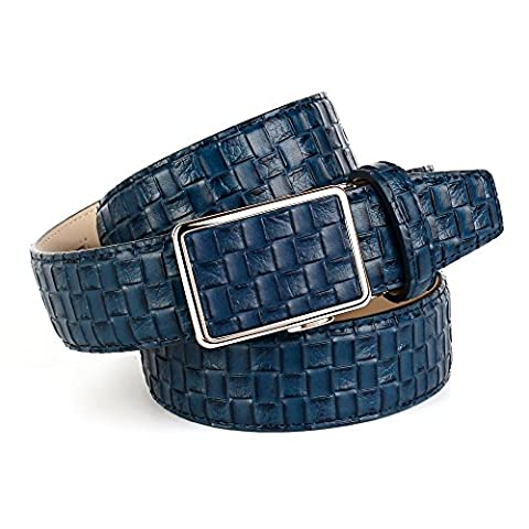 Anthoni Crown Men's 17FM80 Belt, Blau (Blau 080), 90