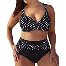 3c8d2fca1099 Donna Vita Alta Taglie Forti Costumi Da Bagno Punto D'onda Modello Bikinis