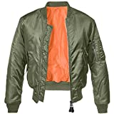 Brandit MA1 Jacke Oliv/Orange S