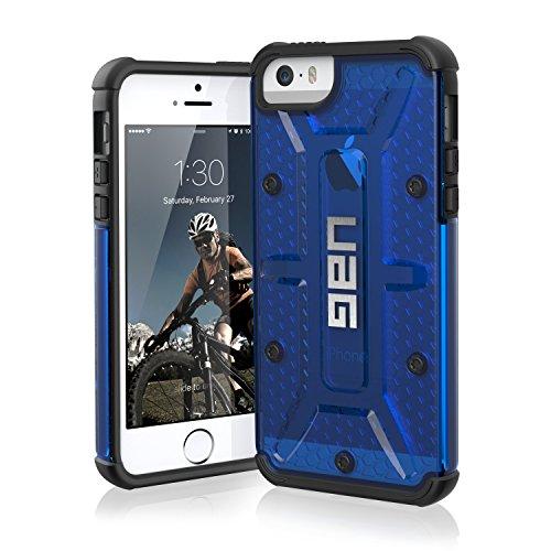 Urban Armor Gear Schutzhülle nach US-Militärstandard für Apple iPhone 5/5S/SE - transparent (blau) [Verstärkte Ecken | Sturzfest | Antistatisch Vergrößerte Tasten] - - Militär Iphone Schutzhülle 5s Für