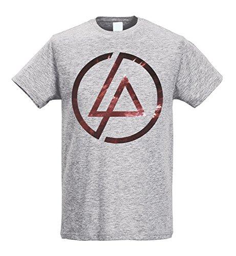 LaMAGLIERIA Camiseta Hombre Slim Linkin Park Texture Logo -...