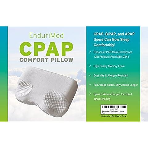 Apnea (almohada para usuarios de, bipap, apap Machine CPAP–comodidad para lado, espalda, y el vientre para reducir Face & Máscara nasal–& Air fugas de presión Contour Memory Foam para cuello y alineación de