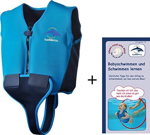 Schwimmweste aus Neopren, für Kinder und Jugendliche, 8-10 Jahre, blau/navy/gelb (Boot Ums)
