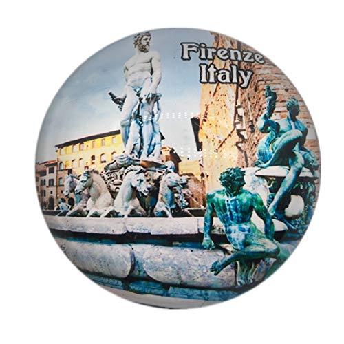 Poseidon Brunnen Signoria Platz Florenz Firenze Italien Kühlschrankmagnet 3D Kristall Glas Tourist Stadt Reise Souvenir Sammlung Geschenk Starke Kühlschrank Aufkleber