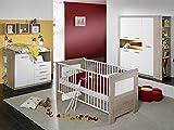 Babyzimmer SET 2 teilig eiche sägerau Kinderbett Wickelkommode