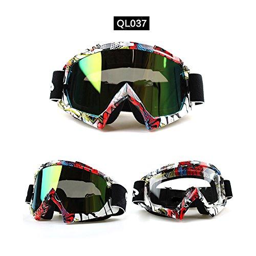 logas Occhiali da Moto da Fuoristrada Motocross//ATV Occhiali da Moto Anti-UV Antivento per Gli Sport allAria Aperta