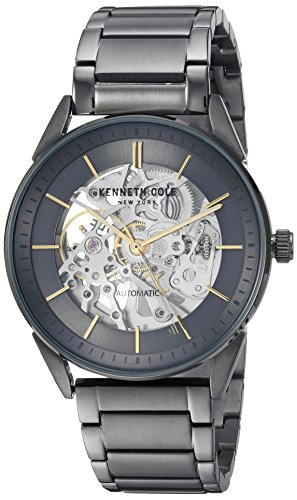Kenneth Cole New York Mens Analog Automatic-self-Wind Watch with Stainless-Steel Strap KC50192005