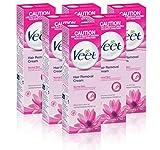 Veet Haarentfernungs-Creme Normale Haut mit Lotus Milk & Jasmine (100 ml) - Packung mit 6