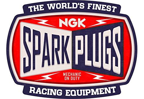 cut-it folientechnik & design MG038/Zündkerze Aufkleber ca. 9x7cm Spark Plugs Hot Rod V8 Vintage Retro Bergrennen Rennsport Rat Rod - Spark Rod