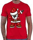 HARIZ  Herren T-Shirt Dabbing Santa Weihnachtsmann Nikolaus Dab Dabbing Tanzen Weihnachten Plus Geschenkkarten Rot 3XL