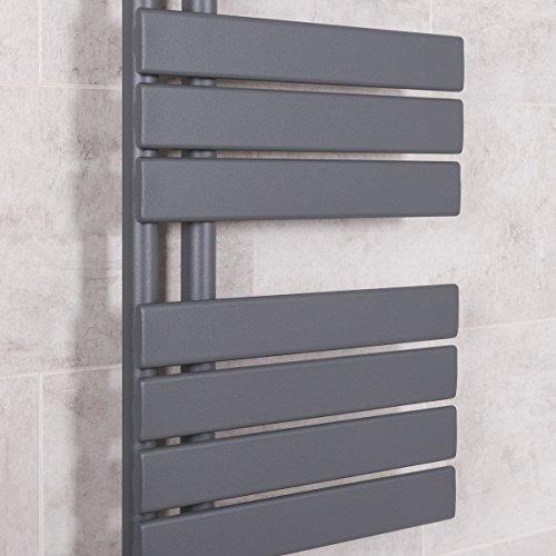 Designer Handtuchheizkörper Badheizkörper 1380x500mm Grau - 3