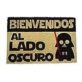 koko doormats - Felpudos Originales y Divertidos para la Entrada de casa - Bienvenido al Lado Oscuro - PVC, Coco, 40 x 60 cm