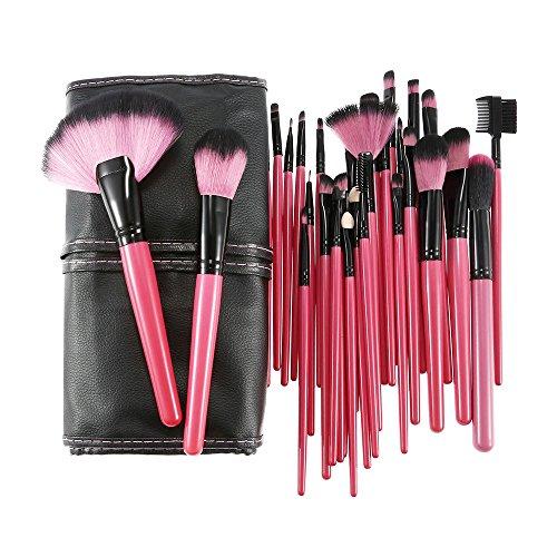 Anself 32pcs Holz Make-up Pinsel Set Gesichtspinsel Professionellen Kosmetik bilden Set + Tasche (32pcs Make-up Pinsel Mit Tasche)