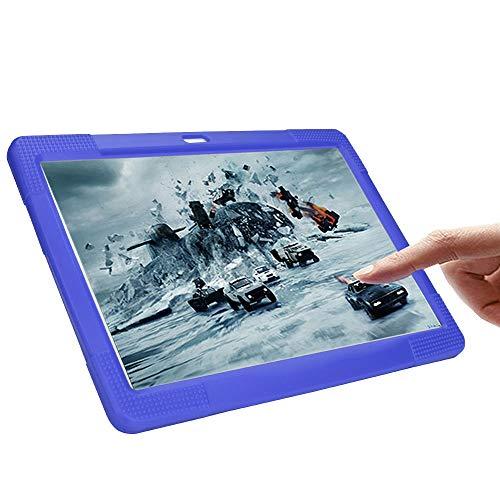 NIUQY Funda de silicona universal portátil adecuada para 10 10.1 pulgadas Tablet PC Android Personalizado Compatible Seguridad de moda Prevención de pérdidas a prueba de golpes (Morado)
