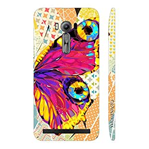 Enthopia Designer Hardshell Case Butterfly on a Feathery Wall Back Cover for Asus Zenfone 2 Laser ZE500KL