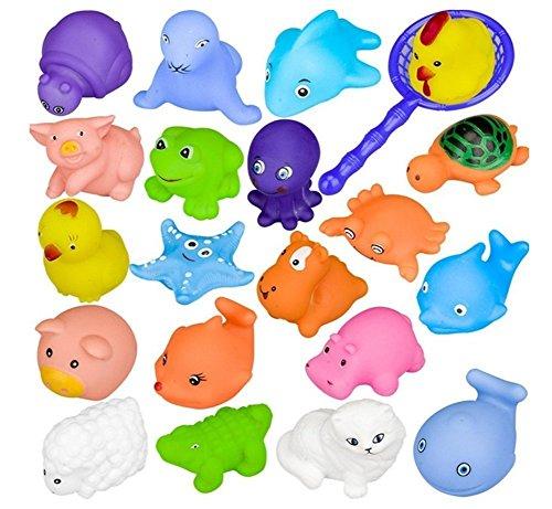 Makwes Satz von 10 verschiedenen Tieren Baby Badespielzeug Gummi Float Sound Wash Bad Schwimmen Tauchen Spielen Tiere Spielzeug ,Kleinkindspielzeug