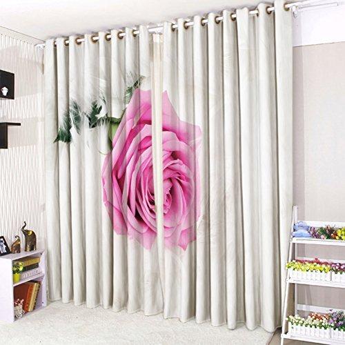 Cushionmania tende con occhielli, motivo in 3d, 16 bellissimi stili, (132,1cm larghezza x 228,6cm altezza, rosa rosa)