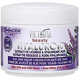 Victoria Beauty - Anti-Falten Augencreme mit Süßholzextrakt und Hyaluronsäure - Gesichtspflege gegen Falten (1 x 50 ml) - Tages- und Nachtcreme gegen Schwellungen - ab 60 Jahre