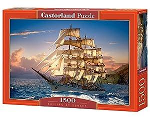 Castorland Sailing at Sunset 1500 pcs Puzzle - Rompecabezas (Puzzle Rompecabezas, Buques, Niños y Adultos, Niño/niña, 9 año(s), Interior)