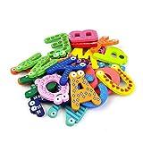 Cinlla® A-Z Alphabet Magnetbuchstaben Worte Holz Cartoon Kühlschrank Magnet für Lernen & Bildung - Kid Baby Pädagogisches Spielzeug - Pädagogisches Alphabet Kühlschrankmagneten