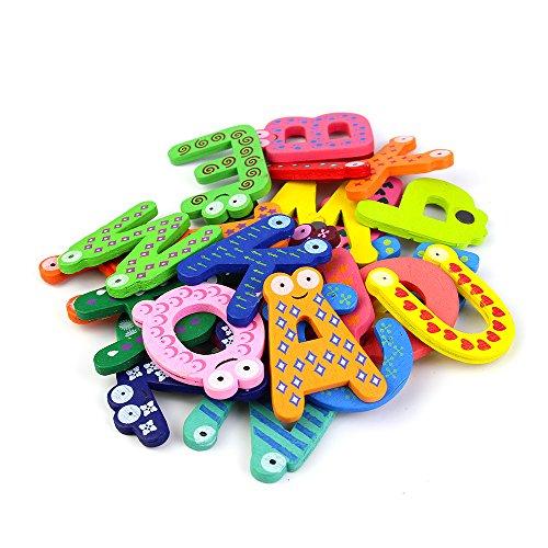 Cinlla® A-Z Alphabet Magnetbuchstaben Worte Holz Cartoon Kühlschrank Magnet für Lernen & Bildung - Kid Baby Pädagogisches Spielzeug - Pädagogisches Alphabet Kühlschrankmagneten (Abc-großbuchstaben Alphabet-magnete)