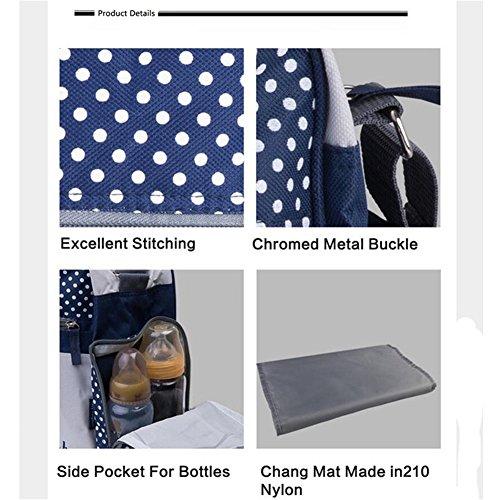 Kangming Multifunktions Groß Kapazität Mummy Schultertasche Baby Windel Windel wechselnde Tasche marineblau